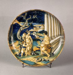 Dish with Hercules and Omphale