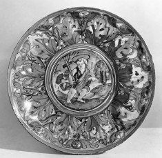 Dish with Saint John the Baptist in the Wilderness