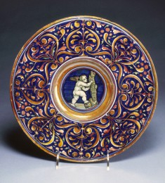 Plate with Cupid Climbing a Tree