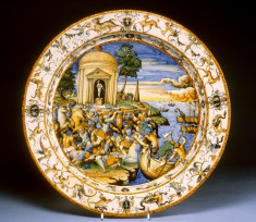 Dish with the Abduction of Helen