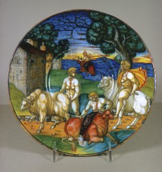 Plate with the Abduction of Europa