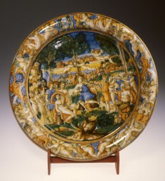 Dish with the Musical Competition between Apollo and Pan