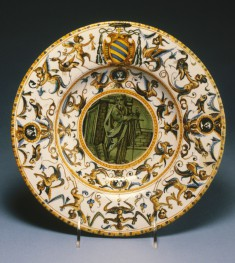 Broad-Rimmed Dish with Saint Paul