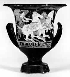 Calyx-Krater with Driver, Chariot, and Three Horses