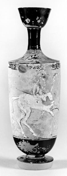 Lekythos Depicting a Mounted Amazon