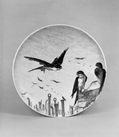 Plate with Swallows