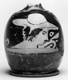 Squat Lekythos with Youth Wearing a Hat