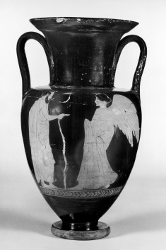 Amphora with a Youth and a Bearded Man and Victory