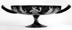 Type B Kylix Depicting Maenad and Satyr and Women and Athletes