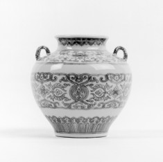 Handled Jar with Banded Designs
