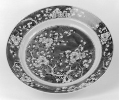 Plate with Prunus Blossoms