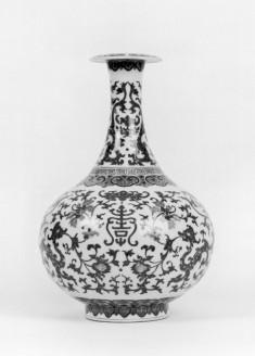 Bottle Vase with Floral Designs