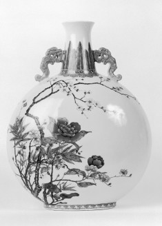 Flask with Floral Motif