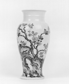 Vase with Plum Tree and Swallows