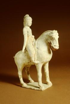 Pair of Sculptures: Women on Horseback