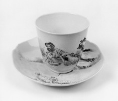 Cup and Saucer with Shepherd