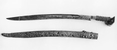 "Sword (""Yataghan"") and Scabbard"