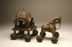Toy in the form of a Temple Carriage drawn by a horse