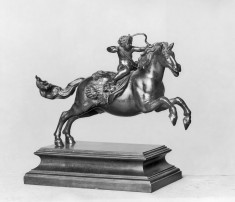 Cupid with a Bow on Horseback