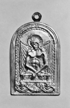Devotional Plaque with Christ as the Man of Sorrows