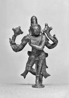 Vishnu Holding Discus and Conch