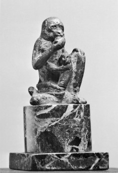 Statue of a Monkey with Young