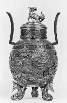 Incense Burner Decorated with Chinese Mythological Animals