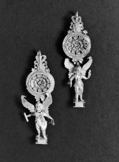 Pair of Earrings with Eros