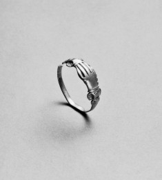 Ring with Clasped Right Hands