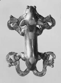 Pendant of Jaguar with Two Double-Headed Snakes