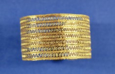 Bracelet with Open Rows of Looped Wire