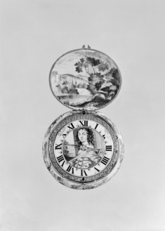 Painted Enamel Watch with a Portrait of a Lady