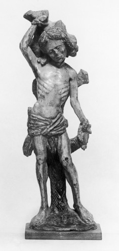 Devotional Statuette of Saint Sebastian