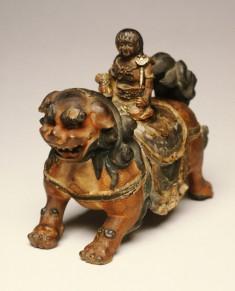 The Bodhisattva Mañjusri as a Child, on a Lion