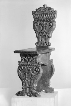 """""""Sgabello""""-Type Chair with Scrolls"""