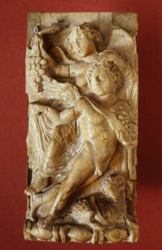 Plaque with Winged Victory and Autumn