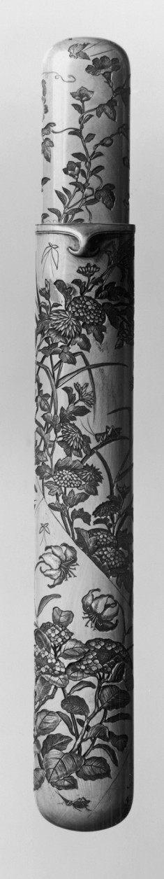 Pipe Case with a Profusion of Garden Flowers