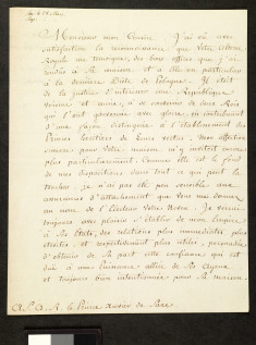 Letter & Envelope, from Catherine the Great to her Cousin, Prince Xavier of Saxony