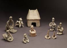 Group of Figurines and Architectural Model