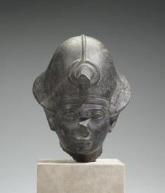 "Head of King Amenhotep II with the ""Blue Crown"""