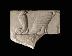 Model of a Vulture and Uraeus Seated on a Basket
