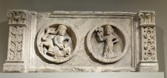 Lintel with Samson and Delilah