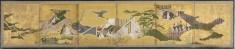 "Six-fold Screen with Scenes from ""The Genji Monogatari"""