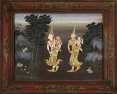 Vessantara Jataka, Chapter 4: Vessantara, Maddi, Jali, and Kanha Enter the Forest
