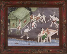 Vessantara Jataka, Chapter 5: The Brahmin Jujaka with his wife Amittapana