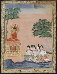 Buddha Preaching to the Five Hermits