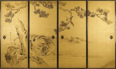Fusuma: Tigers and Dragon