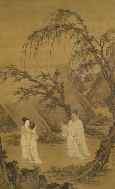 Wang Xianzhi [Wang Hsien-Chih] and Two Wives Among Willows and Rocks