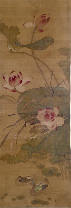 Ducks in a Lotus Pond