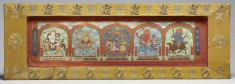 Manuscript Cover with Lhamo Flanked by Four Goddesses